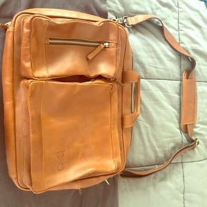 Biz and Bliss Leather Briefcase